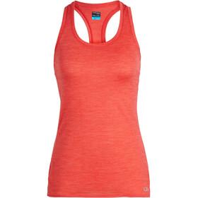 Icebreaker Amplify Hardloopshirt zonder mouwen Dames rood
